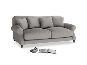 Medium Crumpet Sofa in Safe grey clever linen