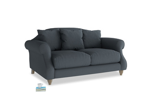 Small Sloucher Sofa in Lava grey clever linen