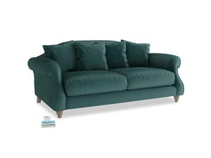 Medium Sloucher Sofa in Timeless teal vintage velvet