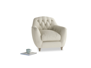 Butterbump Armchair in Pale rope clever linen