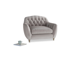 Love Seat Butterbump Love Seat in Soothing grey vintage velvet