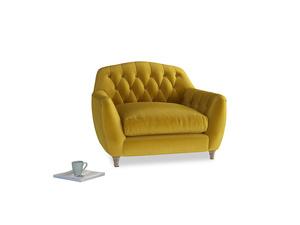 Love Seat Butterbump Love Seat in Burnt yellow vintage velvet