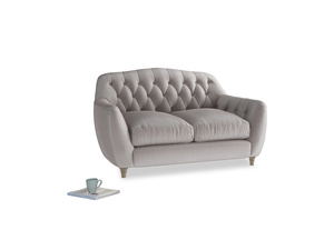Small Butterbump Sofa in Soothing grey vintage velvet