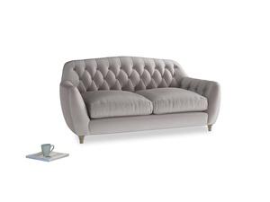 Medium Butterbump Sofa in Soothing grey vintage velvet