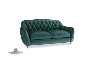 Medium Butterbump Sofa in Timeless teal vintage velvet