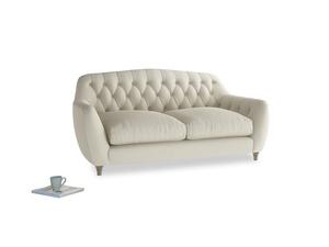 Medium Butterbump Sofa in Pale rope clever linen