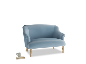 Small Sweetie Sofa in Chalky blue vintage velvet