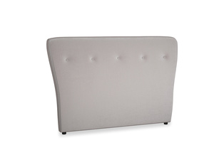 Double Smoke Headboard in Soothing grey vintage velvet