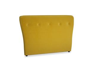Double Smoke Headboard in Burnt yellow vintage velvet