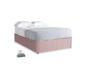 Double Store Storage Bed in Chalky Pink vintage velvet