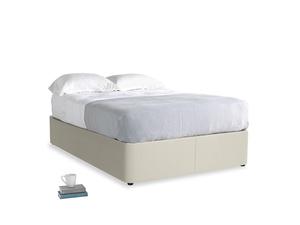Double Store Storage Bed in Pale rope clever linen
