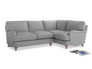 Large Right Hand Jonesy Corner Sofa in Mist cotton mix