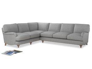 Xl Left Hand Jonesy Corner Sofa in Mist cotton mix