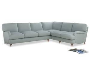 Xl Right Hand Jonesy Corner Sofa in Duck Egg vintage linen