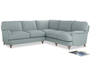 Even Sided Jonesy Corner Sofa in Duck Egg vintage linen