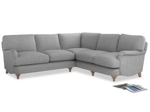 Even Sided Jonesy Corner Sofa in Mist cotton mix
