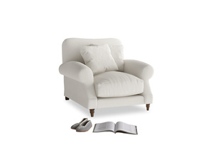 Crumpet Armchair in Oyster white clever linen