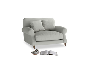 Crumpet Love seat in Mineral grey clever linen