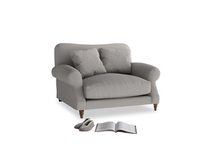 Crumpet Love seat in Safe grey clever linen
