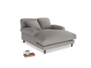 Crumpet Love Seat Chaise in Safe grey clever linen