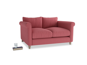 Small Weekender Sofa in Raspberry brushed cotton