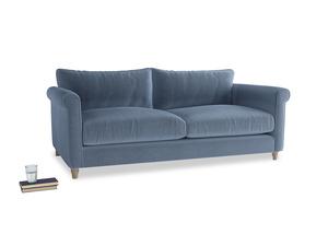 Large Weekender Sofa in Winter Sky clever velvet
