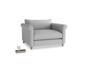 Weekender Love seat in Cobble house fabric