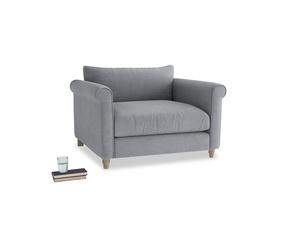 Weekender Love seat in Dove grey wool