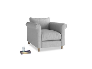 Weekender Armchair in Cobble house fabric