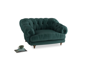 Bagsie Love Seat in Timeless teal vintage velvet