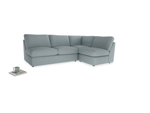 Large right hand Chatnap modular corner storage sofa in Quail's egg clever linen