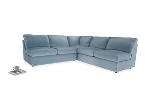 Even Sided  Chatnap modular corner storage sofa in Chalky blue vintage velvet