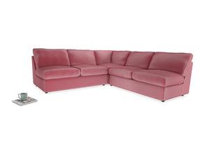 Even Sided  Chatnap modular corner storage sofa in Blushed pink vintage velvet