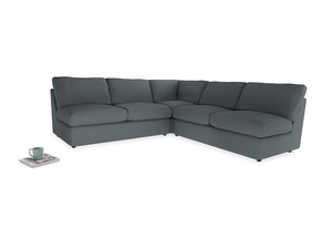 Even Sided  Chatnap modular corner storage sofa in Meteor grey clever linen