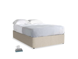 Double Store Storage Bed in Flagstone clever woolly fabric