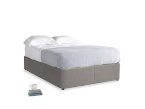 Double Store Storage Bed in Monsoon grey clever cotton