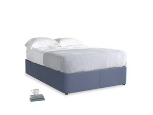 Double Store Storage Bed in Breton blue clever cotton