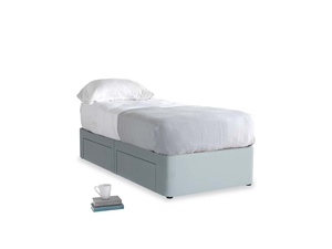 Single Tight Space Storage Bed in Scandi blue clever cotton