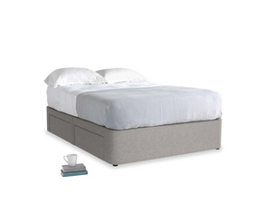 Double Tight Space Storage Bed in Marl grey clever woolly fabric