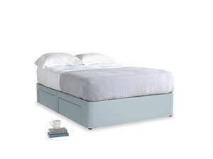 Double Tight Space Storage Bed in Scandi blue clever cotton