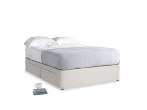 Double Tight Space Storage Bed in Chalk clever cotton