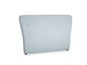 Double Smoke Headboard in Soothing blue washed cotton linen