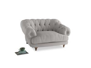 Bagsie Love Seat in Lunar Grey washed cotton linen