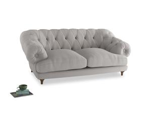 Medium Bagsie Sofa in Lunar Grey washed cotton linen