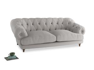 Large Bagsie Sofa in Lunar Grey washed cotton linen