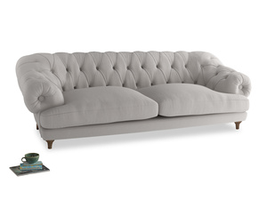Extra large Bagsie Sofa in Lunar Grey washed cotton linen