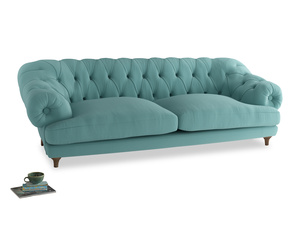 Extra large Bagsie Sofa in Kingfisher clever cotton