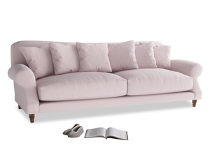 Extra large Crumpet Sofa in Dusky blossom washed cotton linen