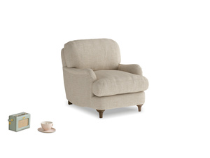 Jonesy Armchair in Flagstone clever woolly fabric