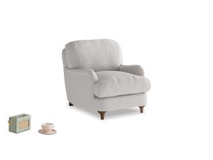Jonesy Armchair in Lunar Grey washed cotton linen